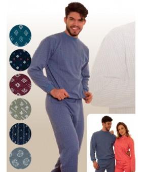 Pijama jackard pesado